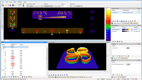 Westboro Photonics Photopia Software for Imaging Photometers & Colorimeters
